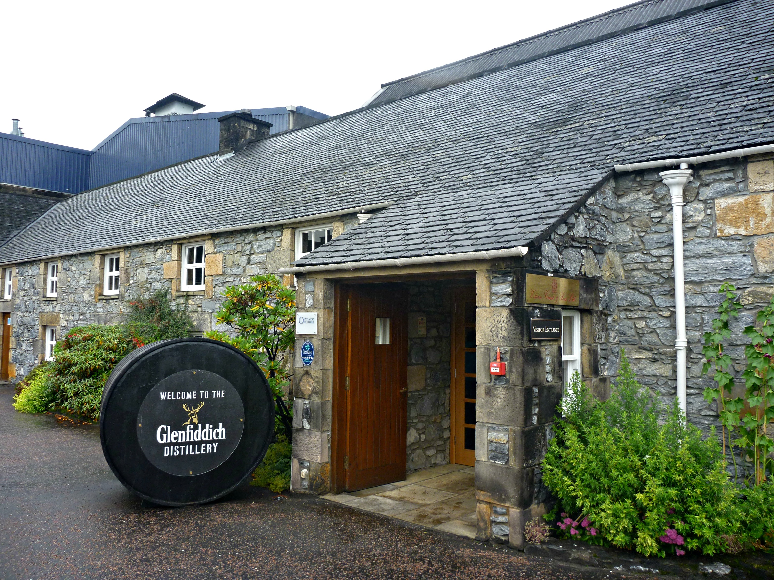 Scotland distillery. Glenfiddich